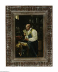 Fine Art:Paintings, ITALIAN SCHOOL (19th Century) The Chemist Oil on canvas 18in. x12in. Signed lower right 'ABIELLA' Condition Report: ...