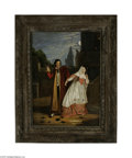 Fine Art:Paintings, EUROPEAN SCHOOL (19th Century) Unmasked Oil on canvas 44in. x 32in.Condition Report: Canvas wax lined, foliage in bac...