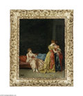 Fine Art:Paintings, EUROPEAN SCHOOL (19th century) The New Shoes and The Masquerade(pair) Oil on panel 13.75in. x 10.5in. Signed 'P. Mayada... (2Items)
