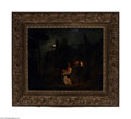 Fine Art:Paintings, EUROPEAN SCHOOL (19th Century) Nocturnal Scene with Fainting WomanOil on canvas 21.5in. x 25.75in. Condition Report: ...