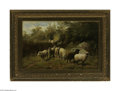 Fine Art:Paintings, ARTHUR FITZWILLIAM TAIT (American 1819-1905)Grazing Sheep, 1893 Oilon canvas 14in. x 22in. Signed and dated lower left, ...