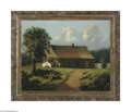 Fine Art:Paintings, EUROPEAN SCHOOL (19th Century) Cottage Scene Oil on canvas 24in. x30in. Signed 'E.C.Boutille, 1894' lower left Condi...