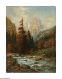 WILLIAM KEITH (American 1838-1911) Tuolumne River - Hetch Hetchy Oil on canvas 37.25in. x 29.25in. Signed lower left...