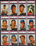Baseball Cards:Lots, 1953 Topps Baseball PSA EX-MT 6 Graded Collection (12)....