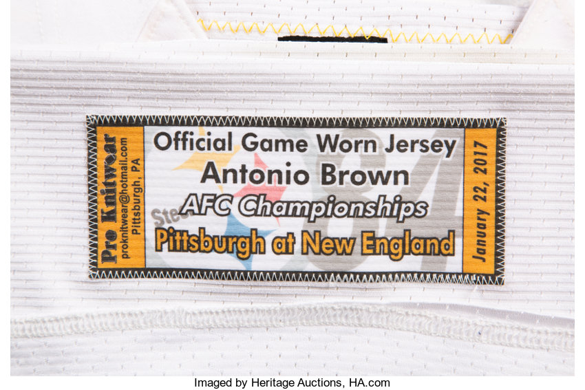 low priced f1830 3360e 2017 Antonio Brown Game Worn, Unwashed & Signed Pittsburgh ...