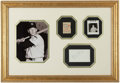 Autographs:Index Cards, Early 1950's Mickey Mantle Signed Index Card Display. ...