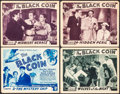 "Movie Posters:Serial, The Black Coin (Stage and Screen Productions, 1936). Overall: Fine/Very Fine. Title Lobby Card & Lobby Cards (3) (11"" X 14"")... (Total: 4 Items)"