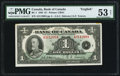 Canadian Currency, BC-1 $1 1935.. ...