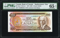 Canadian Currency, BC-52aA $100 1975 Replacement Note *JA Prefix.. ...