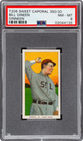 Baseball Cards:Singles (Pre-1930), 1909-11 T206 Sweet Caporal 350/30 Bill Dinneen PSA NM-MT 8 - Pop Four, None Higher!...