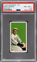Baseball Cards:Singles (Pre-1930), 1909-11 T206 Piedmont 150 Mike Donlin (Seated) PSA NM-MT 8.5 - PopOne, One Higher! ...