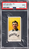 Baseball Cards:Singles (Pre-1930), 1909-11 T206 Old Mill William Otey PSA Mint 9 - Pop One, None Higher! ...