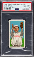 Baseball Cards:Singles (Pre-1930), 1909-11 T206 Sweet Caporal 350/30 Jake Stahl (Glove Shows) PSANM-MT 8 - Pop Three, None Higher! ...