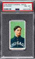 Baseball Cards:Singles (Pre-1930), 1909-11 T206 Sweet Caporal 150/30 Ed Walsh PSA NM-MT 8 - Only One Higher! ...