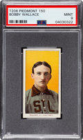 Baseball Cards:Singles (Pre-1930), 1909-11 T206 Piedmont 150 Bobby Wallace PSA Mint 9 - Pop Three, None Higher!. ...