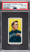 Baseball Cards:Singles (Pre-1930), 1909-11 T206 Sweet Caporal 350/30 Doc White (Chicago, Pitching) PSA NM-MT 8 - Pop Six, None Higher! . ...