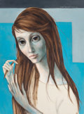 Fine Art - Painting, American, Margaret Keane (American, b. 1927). Girl with Long Hair,1964. Oil on canvas. 24 x 18 inches (61.0 x 45.7 cm). Signed up...