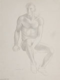 Fine Art - Work on Paper, Bernard Perlin (American, 1918-2014). Bob Courtright, 1953.Pencil on paper. 12-3/4 x 9-3/8 inches (32.4 x 23.8 cm) (sig...