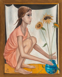 Margaret Keane (American, b. 1927) Prop Director Oil on canvas 30 x 24 inches (76.2 x 61.0 cm)