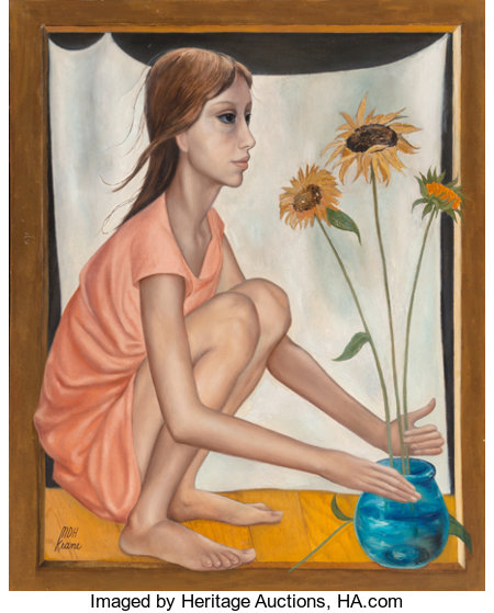 Margaret Keane (American, b. 1927)Prop DirectorOil on canvas30 x 24 inches (76.2 x 61.0 cm)Signed lower left: ...