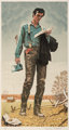 Norman Rockwell (American, 1894-1978) Young Lincoln Lithograph in colors on paper 28-3/4 x 15 inches (73.0 x 38.1 cm)...