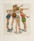 Prints & Multiples, Norman Rockwell (American, 1894-1978). Sports. The complete portfolio of four lithograph in colors on paper. 18-5/8 x 16...