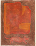 Works on Paper, Rufino Tamayo (Mexican, 1899-1991). Estela, 1977. Mixografia in colors on Arches paper. 29 x 22-1/2 inches (73.7 x 57.2 ...