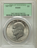 Eisenhower Dollars, (3)1971-D $1 MS66 PCGS. PCGS Population: (1184/36). NGC Census: (719/51). CDN: $45 Whsle. Bid for problem-free NGC/PCGS MS6... (Total: 3 coins)