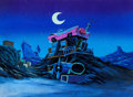Animation Art:Painted cel background, The Catillac Cats/Cats & Company Painted Background(Hanna-Barbera, c. 1984)....