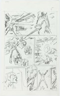 Original Comic Art:Miscellaneous, John Buscema The Avengers #290 Original Preliminary Artworkfor Story Page 5, and Additional Conceptual Sketches. ... (Total: 5Original Art)