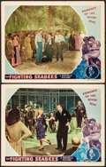 """Movie Posters:War, The Fighting Seabees (Republic, 1944). Lobby Cards (2) (11"""" X 14"""").War.. ... (Total: 2 Items)"""