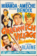 """Movie Posters:Musical, Greenwich Village (20th Century Fox, 1944). One Sheet (27"""" X 41""""). Musical.. ..."""