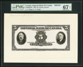 Canadian Currency, Toronto, ON- Imperial Bank of Canada $5 Nov. 1, 1933 Ch # 375-20-02FPa Face Proof;. A.E. Phipps Archival Vignette Imperi... (Total: 2 items)