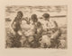 Anders Leonard Zorn (Swedish, 1860-1920) Against the Current, 1919 Etching on paper 4-1/2 x 6-3/8 inches (11.4 x 16.2...