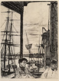 Fine Art - Work on Paper, James Abbott McNeill Whistler (American, 1834-1903).Rotherhithe, sixth state of six, 1871. Etching and drypointon pape...