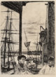 James Abbott McNeill Whistler (American, 1834-1903) Rotherhithe, sixth state of six, 1871 Etching and drypoint on pape...