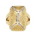Estate Jewelry:Rings, Diamond, Gold Ring, R. Stone. ...