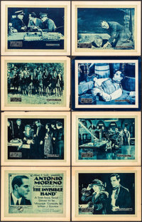 """The Invisible Hand (Vitagraph, 1920). Title Lobby Card & Lobby Cards (7) (11"""" X 14"""") Episodes 2, 7, 8 &..."""