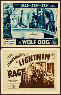 "The Wolf Dog & Other Lot (Mascot, 1933). Lobby Card & Title Card (11"" X 14""). Chapter 7 -- ""The E..."