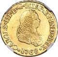 Colombia, Colombia: Charles III gold 2 Escudos 1768 PN-J AU55 NGC,...