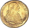 Colombia, Colombia: Ferdinand VII gold 8 Escudos 1814 NR-JF MS61 NGC,...