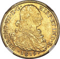 Colombia, Colombia: Ferdinand VII gold 8 Escudos 1819 NR-JF MS60 NGC,...