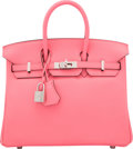 """Miscellaneous:Bags, Hermes 25cm Rose Azalee Swift Leather Birkin Bag with Palladium Hardware. A, 2017. Condition: 1. 10"""" Width x 8"""" He..."""