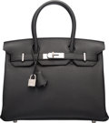 "Luxury Accessories:Bags, Hermes 30cm Black Togo Leather Birkin Bag with Palladium Hardware. X, 2016. Condition: 1. 11.5"" Width x 8"" Height ..."