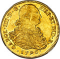Colombia, Colombia: Charles IV gold 8 Escudos 1796 P-JF MS62 NGC,...