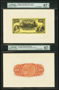 Canadian Currency, Toronto, ON- Bank of Toronto $20 Jan. 2, 1935 Ch. # 715-24-14P Faceand Back Proofs.. ...