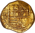 """Colombia, Colombia: Philip IV gold Cob """"Maravillas Recovered"""" 2 Escudos ND (1627-1629)-R [E] MS61 NGC,..."""