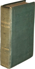 Books:Literature Pre-1900, Charles Dickens. The Life and Adventures of NicholasNickleby. London: Chapman and Hall, 1839. First edition....