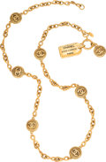 """Luxury Accessories:Accessories, Chanel Vintage CC Medallion Gold Necklace . Condition: 3. 38"""" Length . ..."""