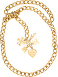 """Luxury Accessories:Accessories, Chanel Gold Chain Charm Belt. Condition: 2. 40"""" Length. ..."""